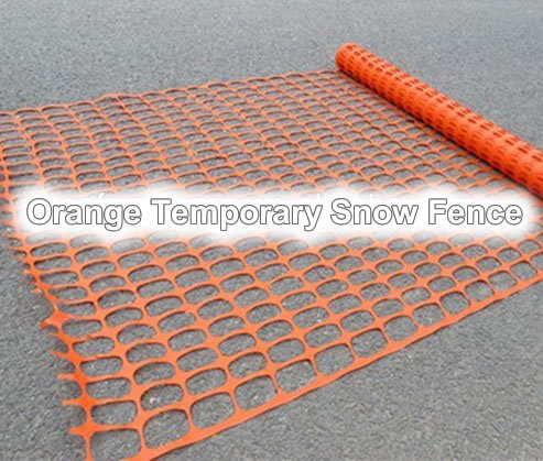 Temporary Snow Fence