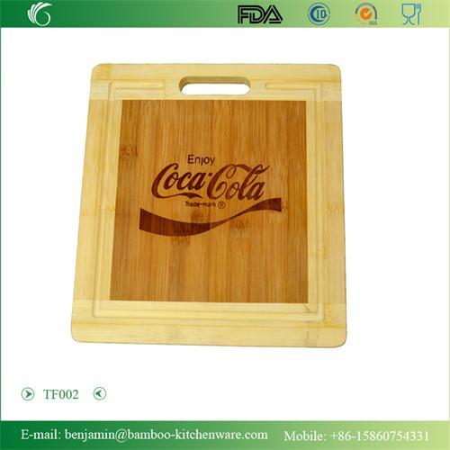 Tf002 100 Bamboo Easy Clean Square Cutting Board Set Chopping Blocks