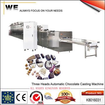 Three Heads Automatic Chocolate Casting Machine