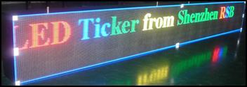 Ticker Full Color Led Display