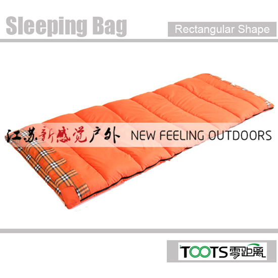 Toots Good Quality Rectangular Shape Cotton Sleeping Bags For Tent