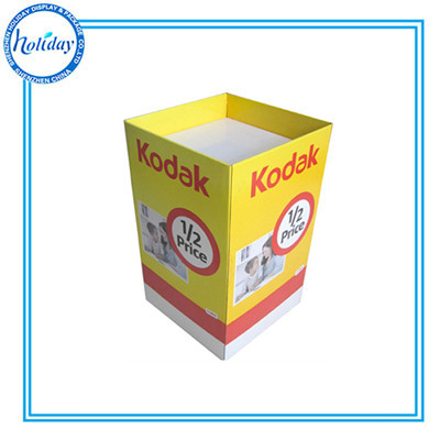 Toy Cardboard Advertising Retail Dump Bins Colored Store Bin With Removable