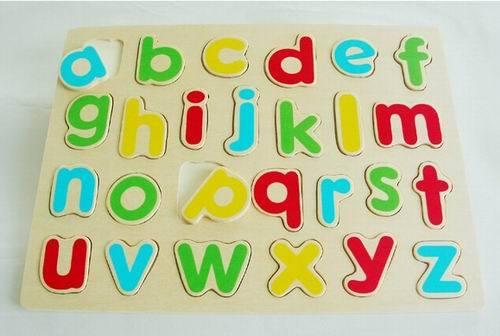 Tp110172 Wooden Alphabet Puzzle