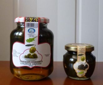 Traditional Cypriot Sweets Green Olives In Sweet Syrup