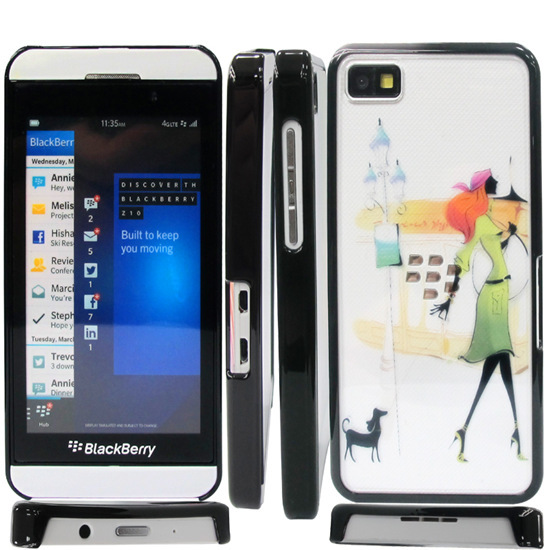 Transparent Color Pc Hard Case Covers For Blackberry Z10