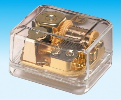 Transparent Music Box Golden Wind Below Serial No 65306 Pa 263