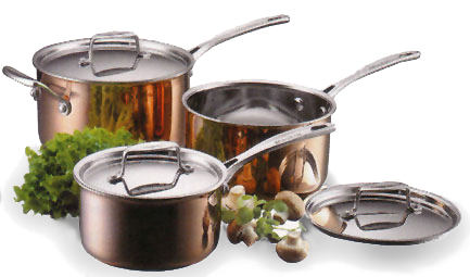 Tri Ply Copper 6 Pc Cookware Set