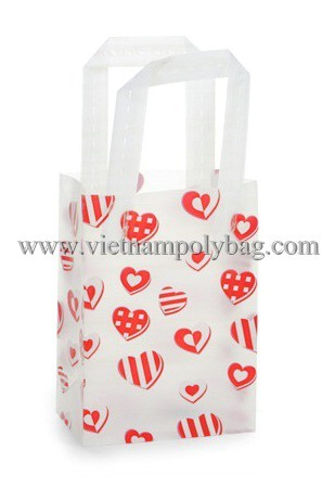 Trifold Plastic Shopping Carrier Bag Made In Vietnam