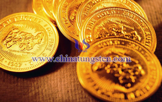 Tungsten Gold Plated Coin