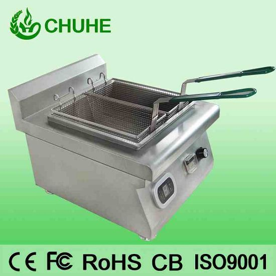Two Basket Potato Chip Fryer For Sale