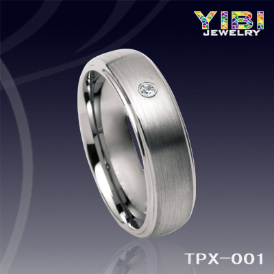Unique Custom Tungsten Rings For Men Single Diamond Engaged Ring