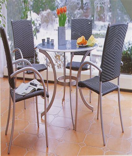 Unique Round Rattan Dining Set