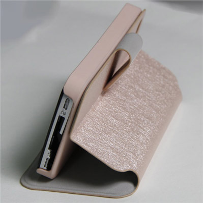 Upright Silk Pattern Case With Big Buckle For Iphone4 4s