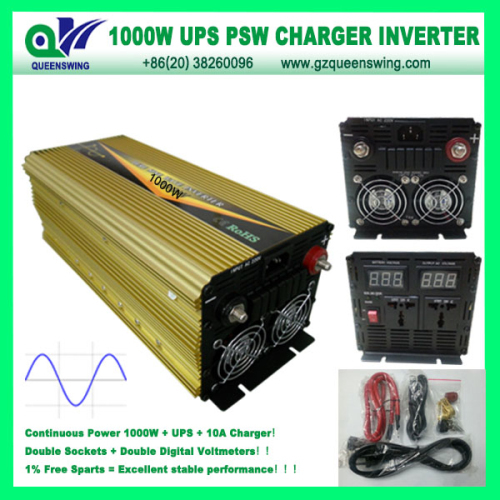 Ups 1000w Pure Sine Wave Power Inverter With 10a Charger
