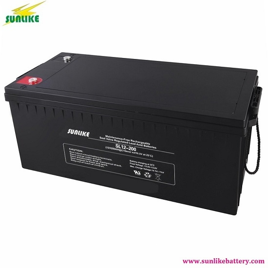 Ups 12v 200ah Sealed Rechargeable Agm Lead Acid Battery For Solar