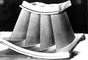 Vacuum Casting Turbo Turbine Balde Used On Locomotive Aviation Turbojet Gas