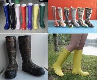 Various New Fashion Rubber Rain Boots