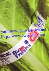 Vegetable Paper Twist Ties Tags