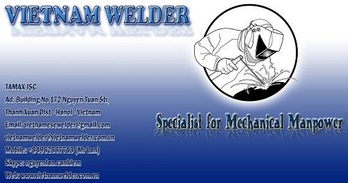 Vietnam Welder Specialist For Mechanical Manpower