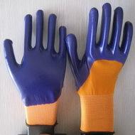 Violet Nitrile Coated Working Gloves Ng1501 13