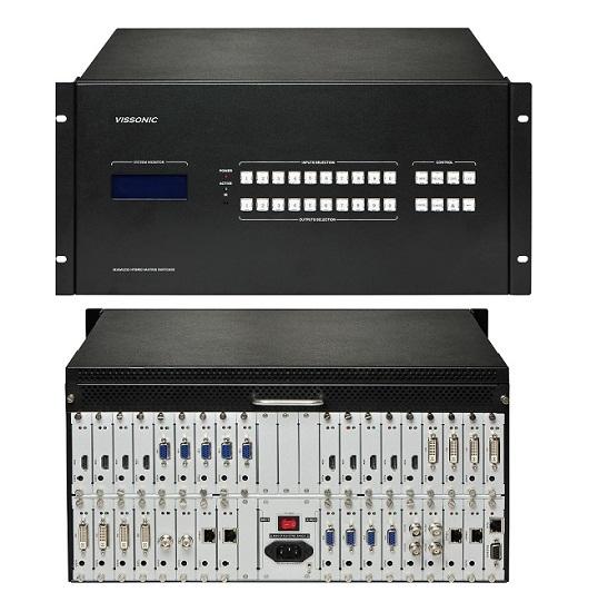 Vissonic Seamless Video Wall Modular Matrix Switcher 8x8 To 36x36