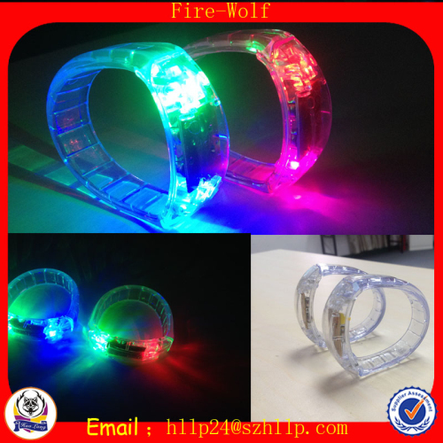 Voice Activated Led Bracelet Glow Wristbands
