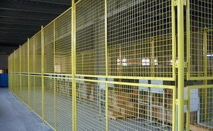 Warehouse Plastic Dipping Steel Wire Mesh Fence Offers You The Best Securit