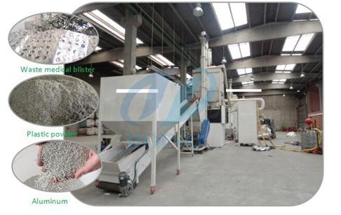 Waste Aluminum Plastic Composite Panel Recycle Plant