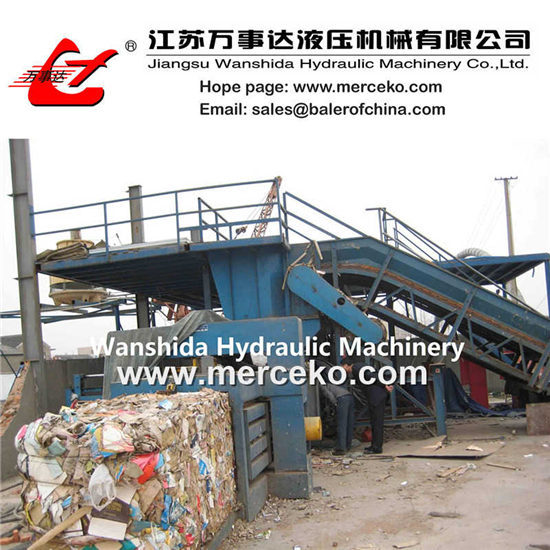 Waste Paper Balers With Automatic Belting Y82 125