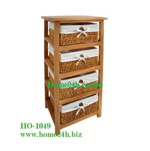 Water Hyacinth Cabinet 4 Drawers Ho 1001