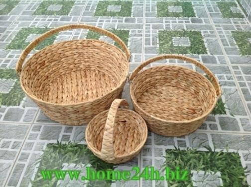 Water Hyacinth Round Basket S 3