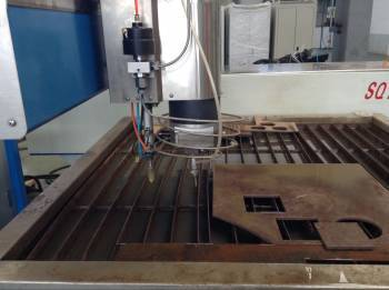 Waterjet Processing Machine With Height Detection System