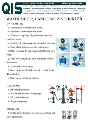 Watermeter Handpump Sprinkler
