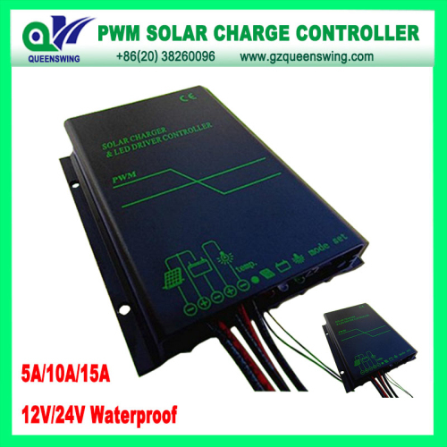 Waterproof 12v 24v 15a Solar Charge Controller With Led Digital Display