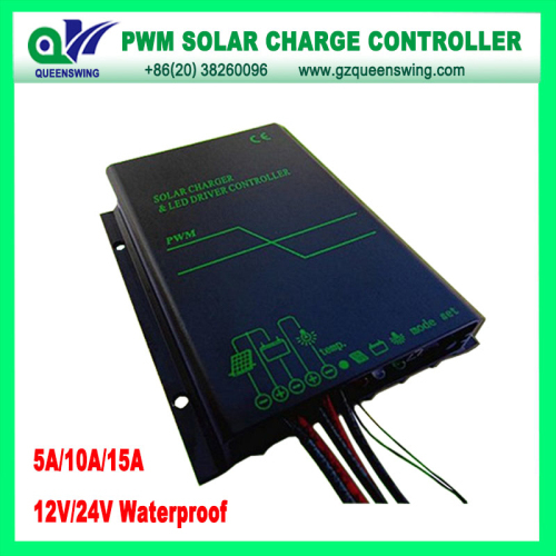 Waterproof 12v 24v 5a Solar Charge Controller With Led Digital Display