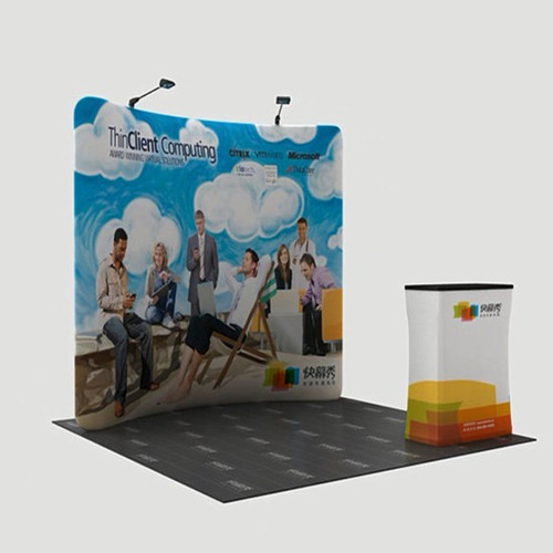 Waveline Display Curved Trade Show Booth Stand Fabric Tension Eh K 04