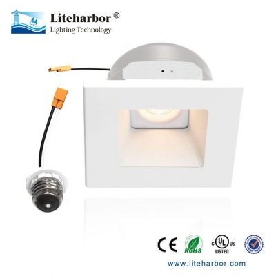 White 4 Inch Led Downlight Square Round Retrofit