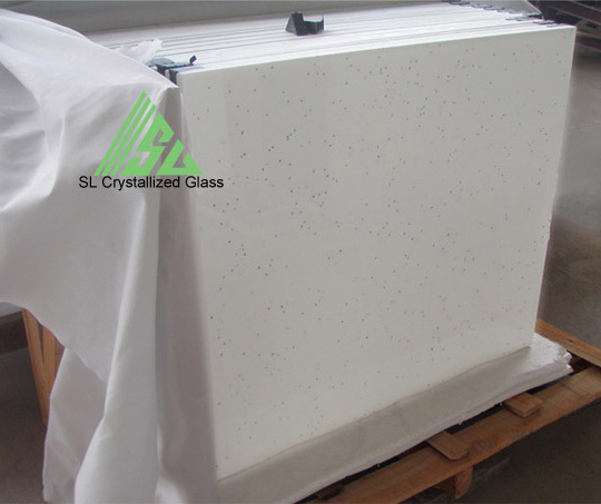 White Galaxy Crystallized Glass Marmoglass Tile