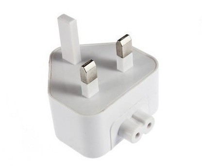 White Uk Ac Power Plug Adapter For Apple Ibook Macbook Pro Charger Converte