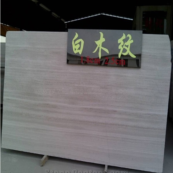 White Wooden Marble 65292 Wood Vein Slab Tile
