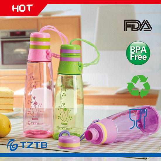 Whole Sale Promotional Gifts Plastic Water Bottle With Nylon
