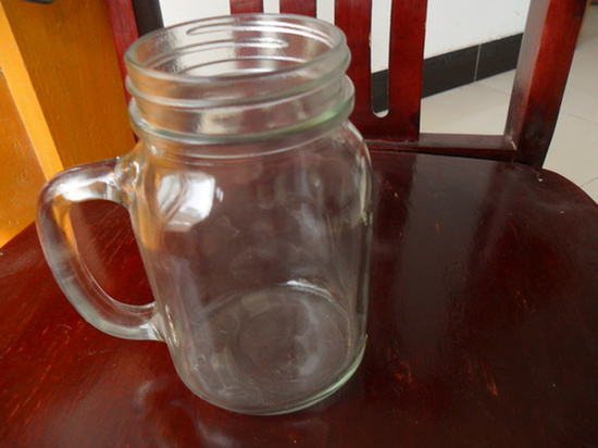 Wholesale 470ml Glass Jar With Handle Metal Lid Jars