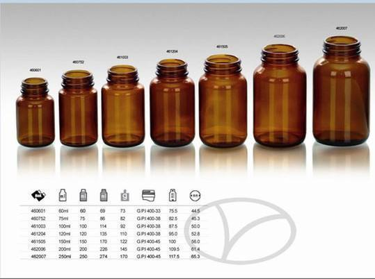 Wholesale Amber Glass Bottles Medicine And Screw Caps