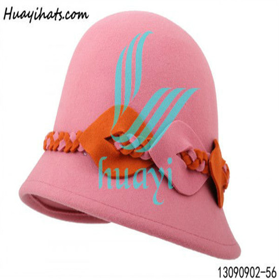 Wholesale Cheap Cloche Wool Felt Hat With Bowknot