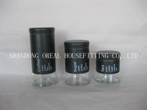 Wholesale Glass Canisters With Coating