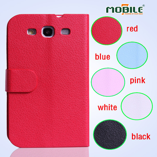 Wholesale Lichee Pattern Skin Leather Case For Samsung S3 I9300 Factory Pri