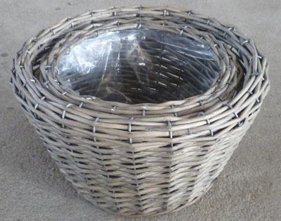 Wicker Garden Basket Willow Flower Pot Vase Bamboo D