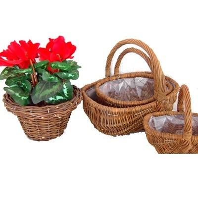 Wicker Garden Basket Willow Flower Pot Vase Decorations