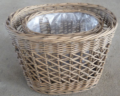 Wicker Garden Basket Willow Flower Pot Vase Grass