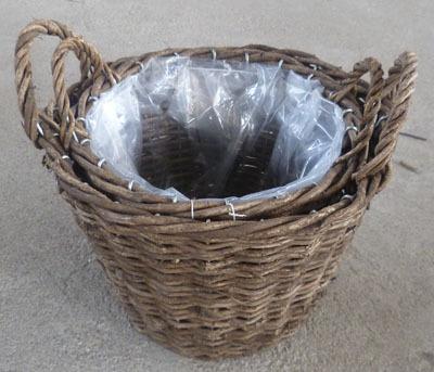 Wicker Garden Basket Willow Flower Pot Vase Planter